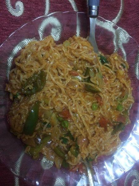Homemade food 😋😍 Yummyinmytummy Noodles Foodie Food Indoors  Ready-to-eat