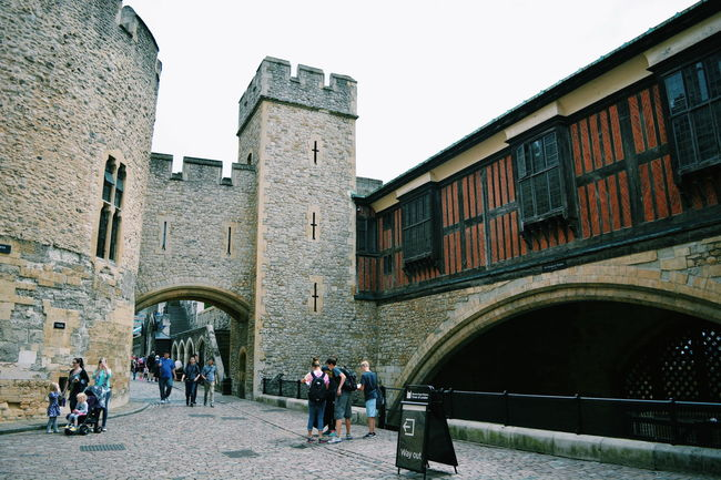 Tower of London Ancient Arch Architecture Building Exterior Built Structure City City Life Day History Leisure Activity Lifestyles Outdoors Sky The Past Tourism Tourist Travel Destinations