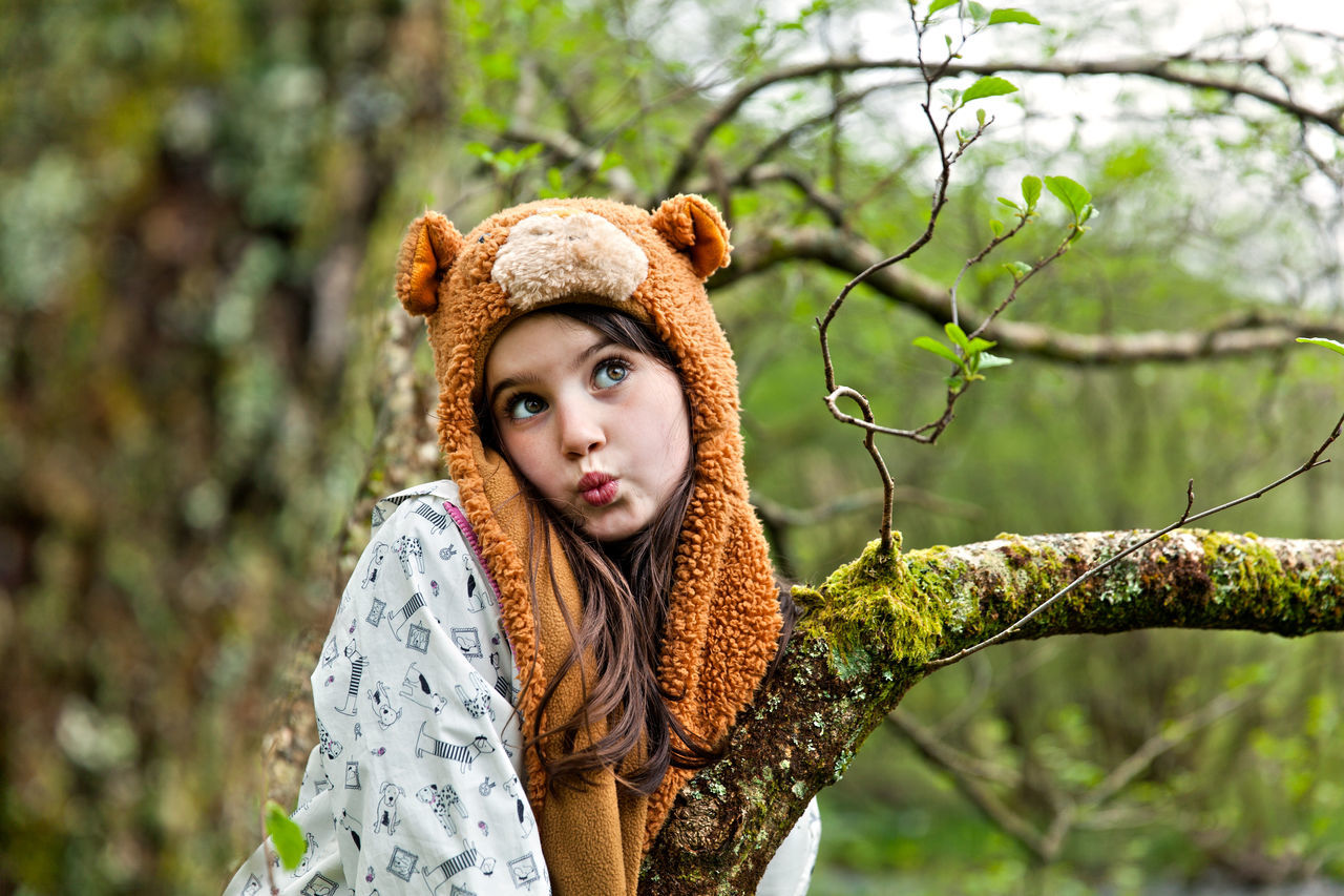 Beautiful stock photos of affe, beauty, portrait, fashion, green color