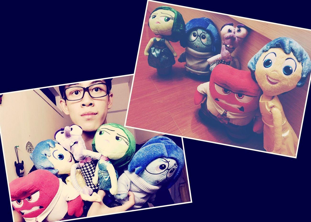 介紹下我呢身邊的5位朋友仔! Anger Fear Disgust Sadness Joy !! that is a Originality movies~ Disney Pixar  Toy Photography EyeEm Best Shots Taking Photos