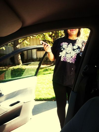 She slept with my Borgore shirt. I knew she was a fan!!
