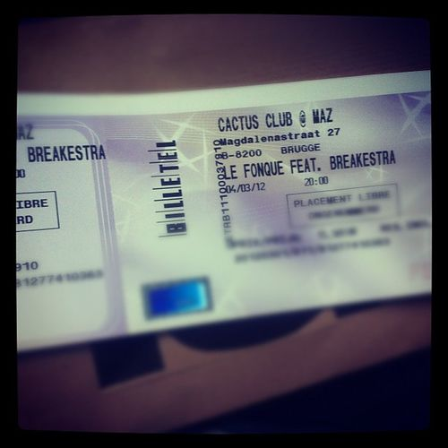 Breakestra Ticket Bruges Party