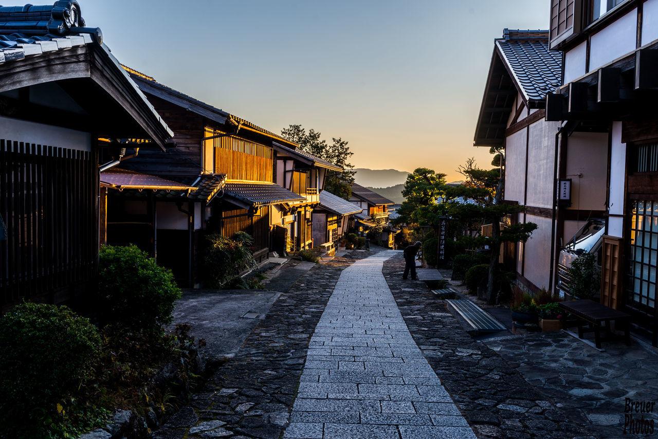Narrow Pathway Along Built Structures