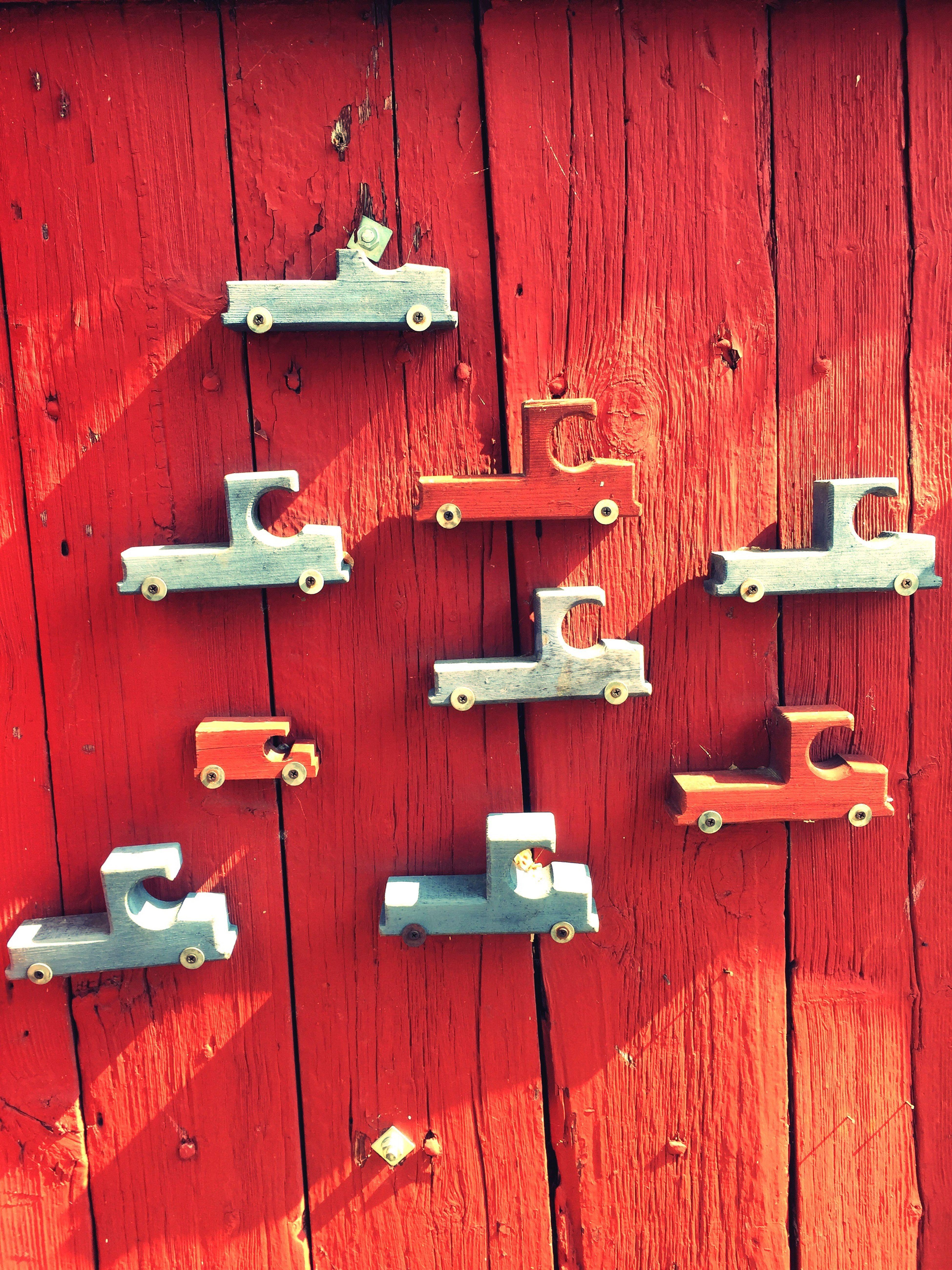 Beautifully Organized Wooden Cars Outdoors Wall Red Wall Finland Tammisaari Summer