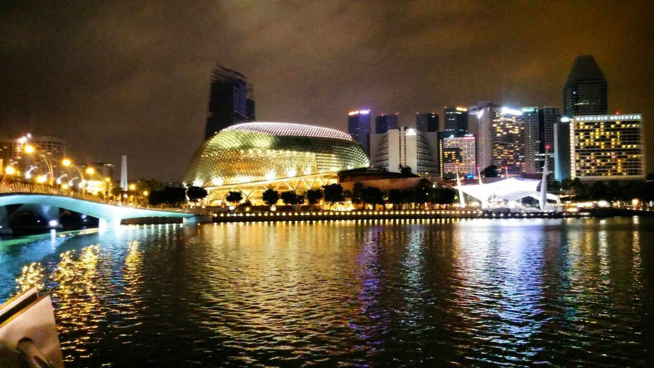 The Changing City Esplanade-theatres On The Bay 50SG Singapore Night Photography LG  G3 City City Lights Bay