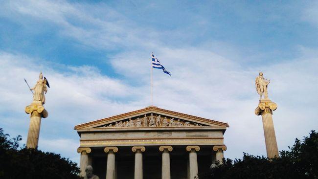 Athens Academy Onthestreet Athens, Greece Academy Of Athens