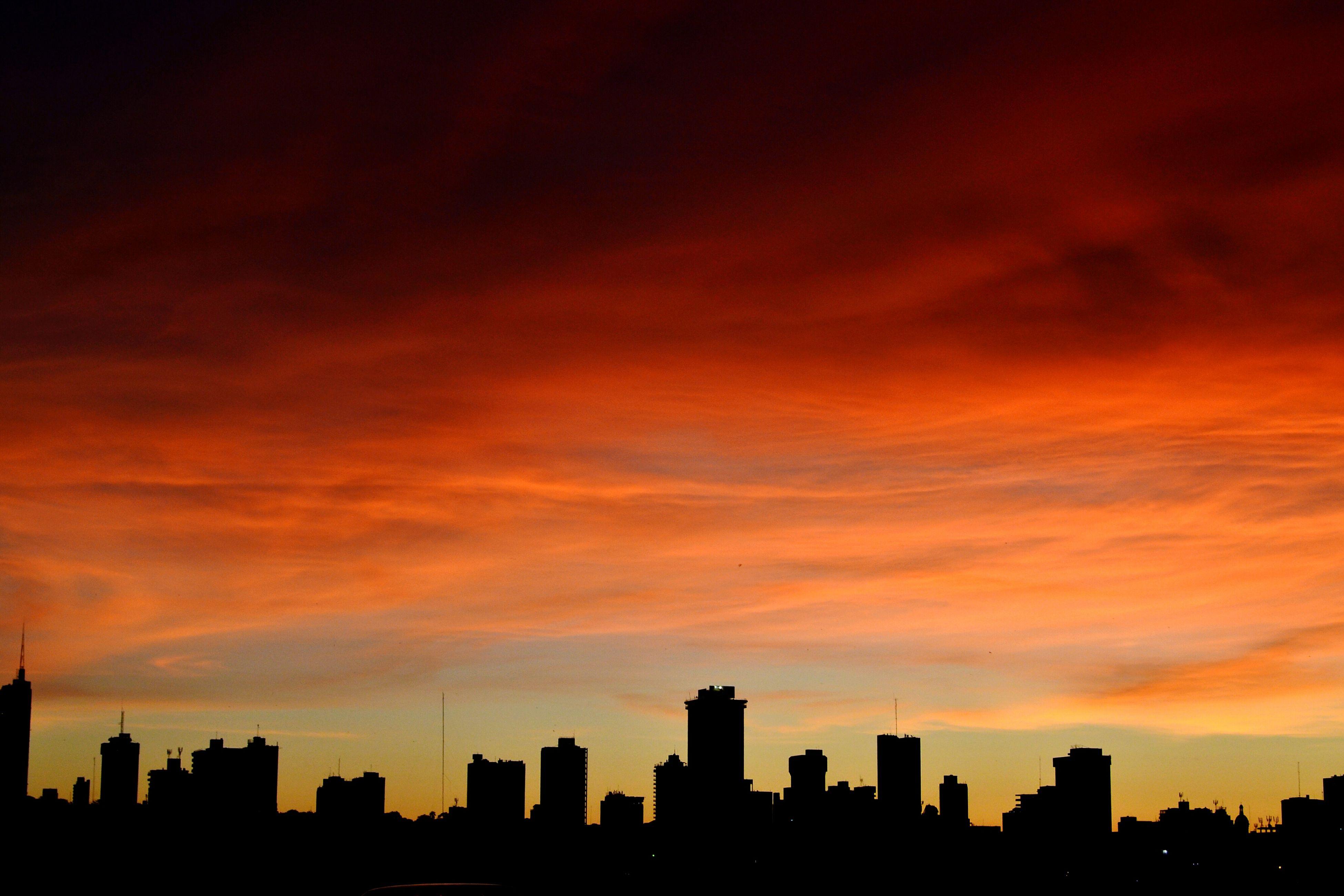 Asunción Cityscape City Urban Skyline Sunset Sky Horizontal Orange Color asuncion Paraguay Paraguayenfotos Paraguayasuncion Bless Joy Family Time Warm Warm Colors