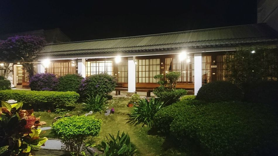 Garden Onsen Taiwan Hotspring Night Architecture Illuminated Built Structure Plant Building Exterior Flower Growth No People Luxury Outdoors