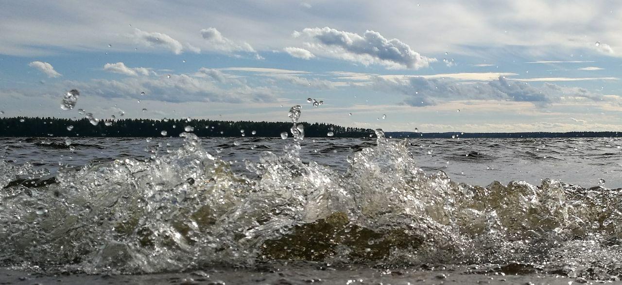 Spatter Drop Wawes Lake Lake View Lake Saimaa Lake In Finland Summer Views Summer Lake Water Waterdrops