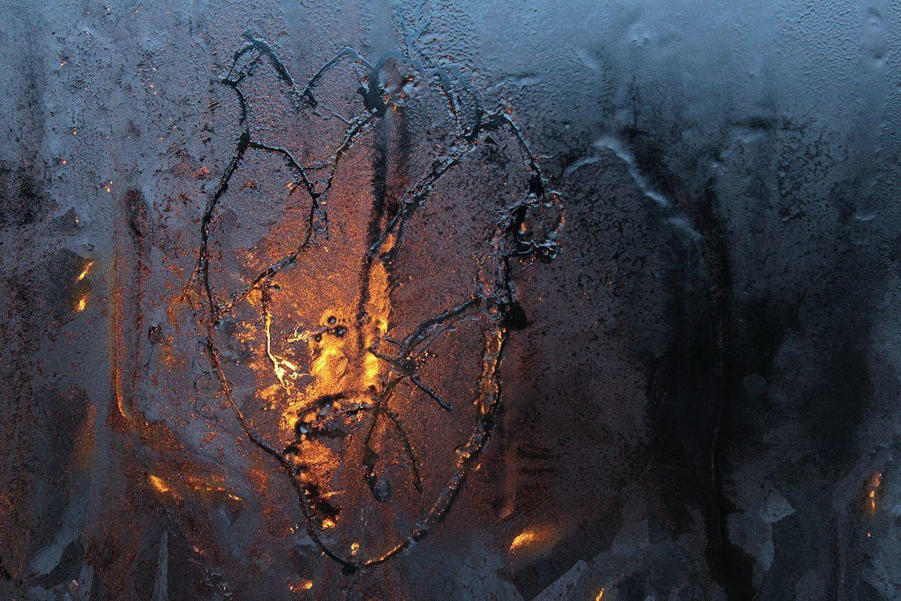 Negative heart Window Cold Temperature Frosted Glass Winter Art EyeEm Best Shots EyeEm Getting Inspired Heart