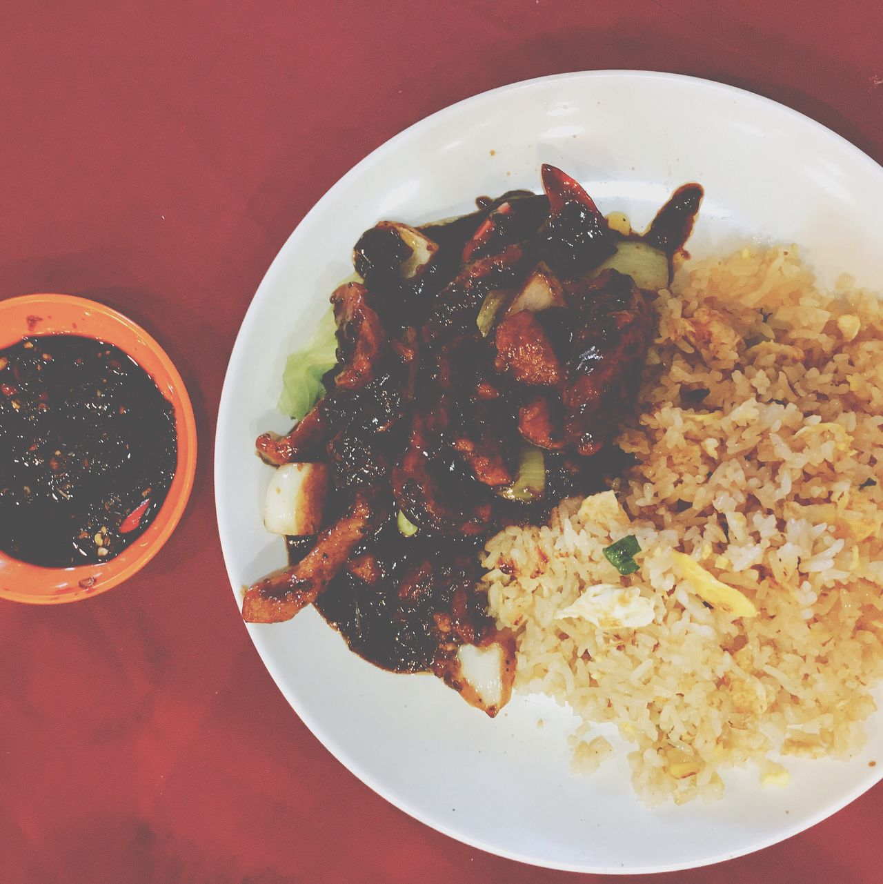 Friedrice Dishes Blackpepperchicken Lunch