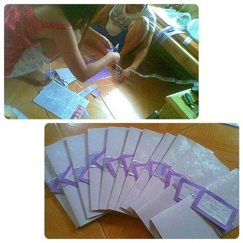 Productive Day. Busy making wedding invitations. :) Xmasday