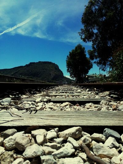 Railway Sky Greece Nafplio