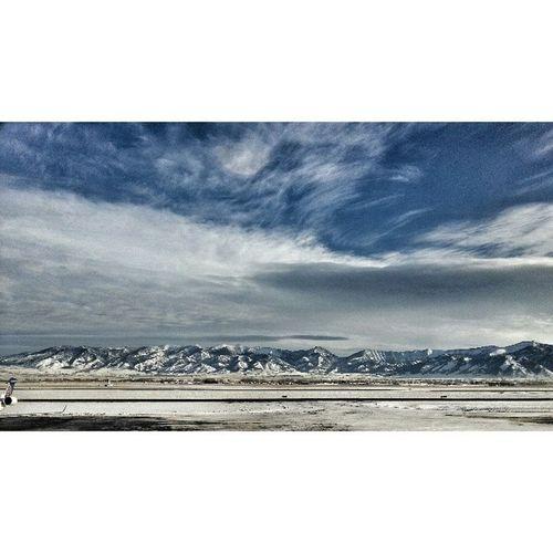 Beautiful day! Nofilter Bridger Mountains Sky clouds Bozeman Montana