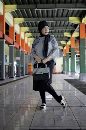 Bandung Shooter Indonesian Shooter Architecture Day Front View Full Length Holding Indoors  Lifestyles Looking At Camera One Person People Portrait Real People Standing Walking Young Adult Young Women Fashion Stories