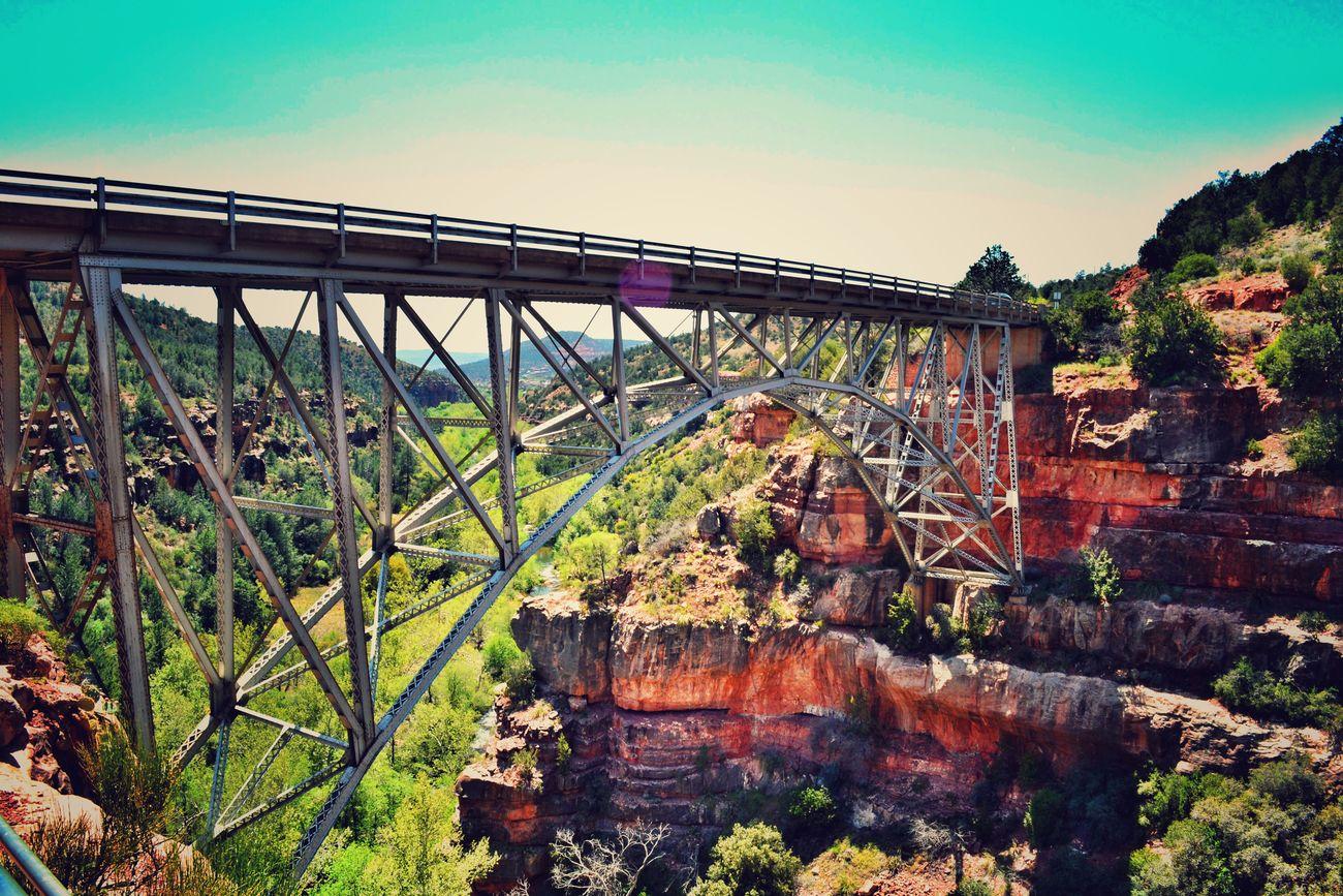 Outdoors Innovation Beauty In Nature Bridges Architecture Bridge - Man Made Structure Connection Scenics Arizona Landscape AriZona♡ Arizona Sky Sedona, Arizona