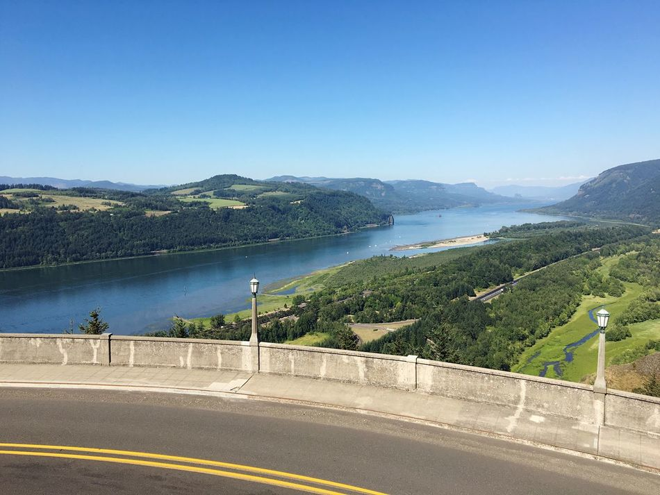Colombia River Oregon Water Scenics Clear Sky Mountain Tranquil Scene Travel Destinations Beauty In Nature Vacations Tourism