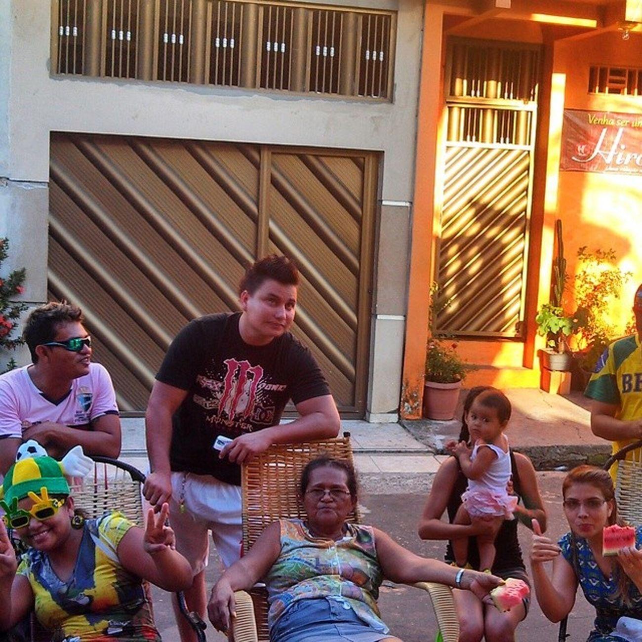 De ontem ko os vizinhos na torcida Brasil Rumo AO Hexa Vamo la pra frente brasil