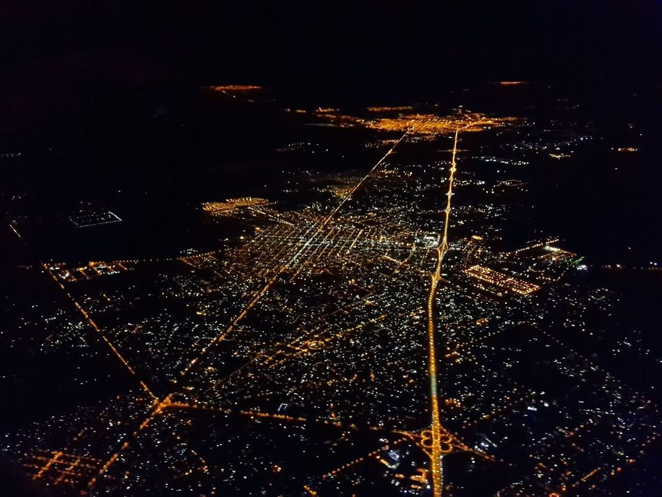 Buenos Aires At The Airport Illuminated Night Buenos Aires Flying High Safuca Flying High