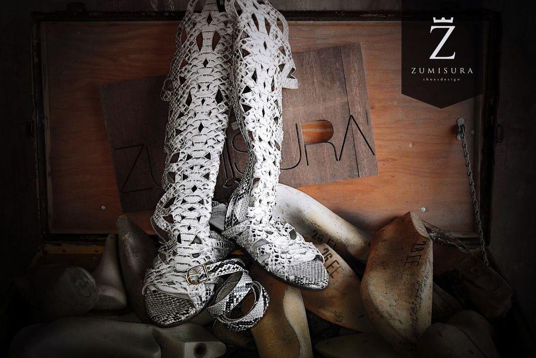 ZUMISURA Tijuana Shoemaker Handmade Custommade Shoes ♥ Python Personalizados Sandals