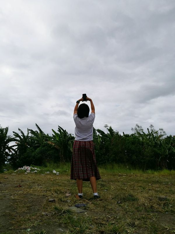 Tomo dachi. One Person Standing Grass
