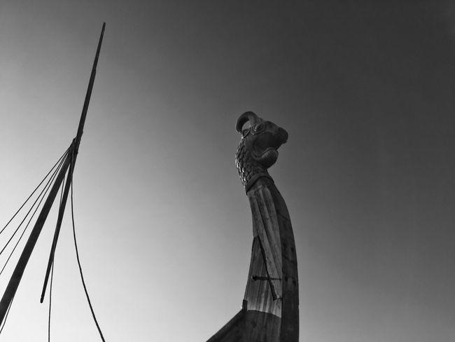 History Viking Drakkar Art And Craft No People Statue Human Representation Sculpture Low Angle View Art Creativity Sky Day