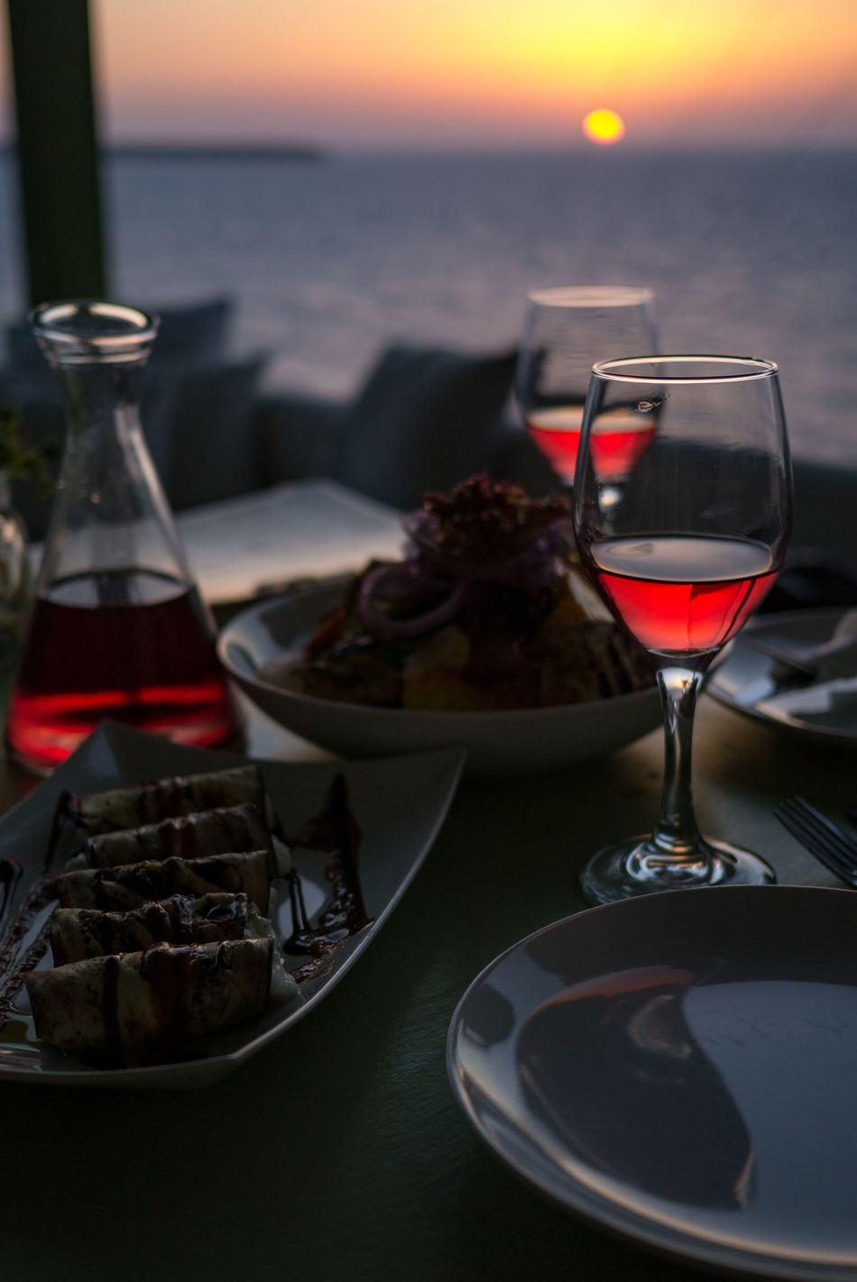 A good glas of wine should be shared. Preferably with the one you love. Alcohol Close-up Dinner For Two Drink Food And Drink Greece Katharos Lounge Love Mediteranean No People Romance Santorini Sunset Together Two Glasses Valentine's Day  Wine Wine Moments Wineglass