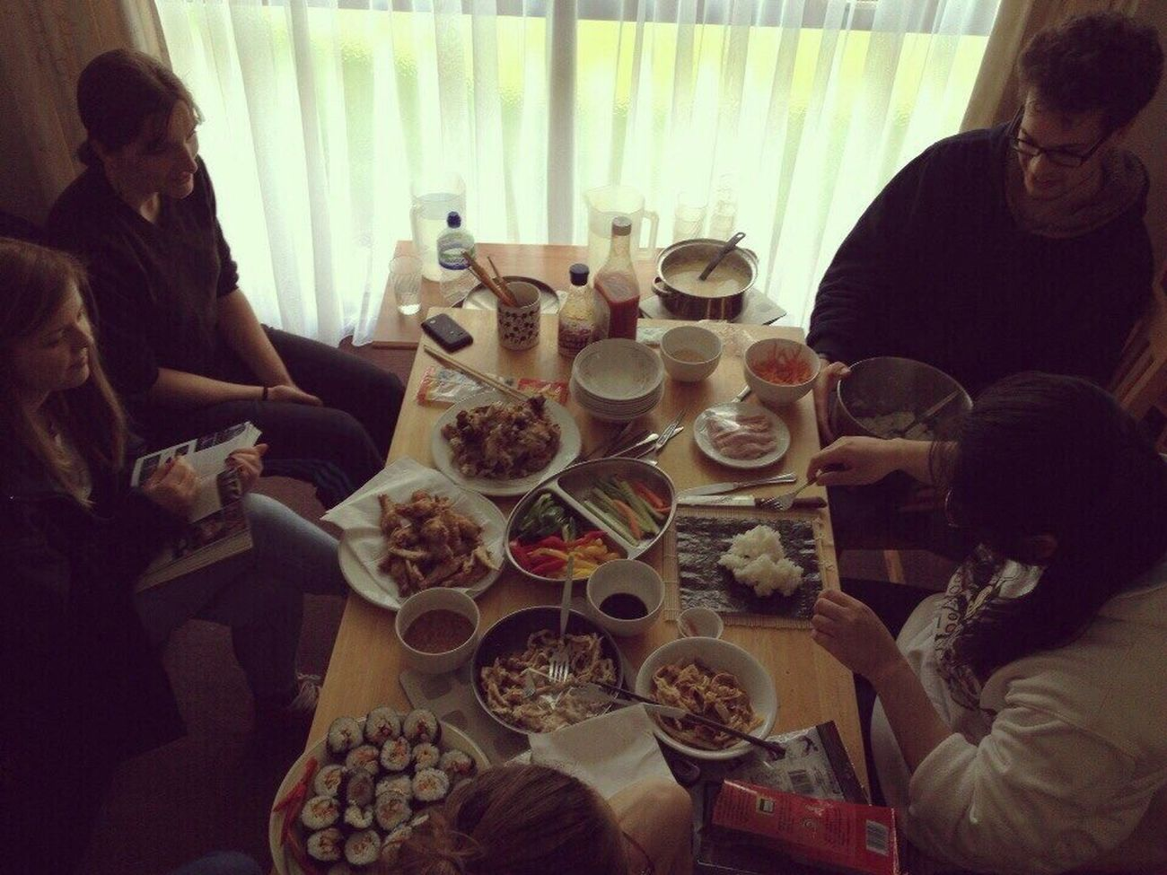 People Together Sharing Culture Food Sushi Homemade Food Homemade Nations