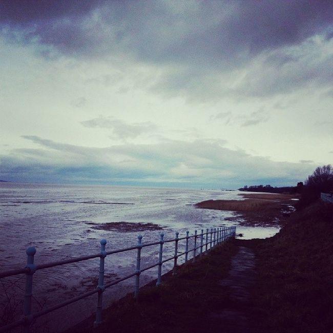 High tide on the Dee River Tide Dee Sky