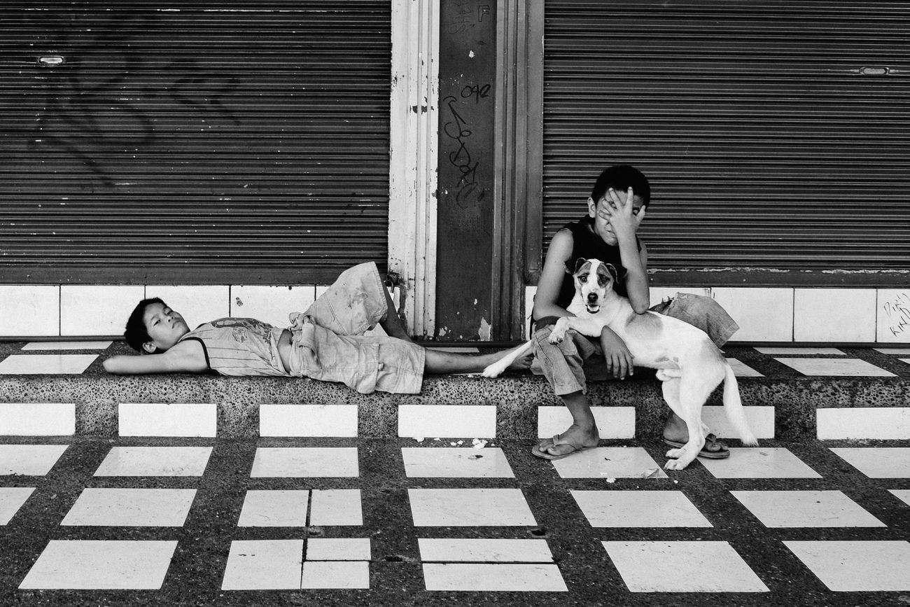 Street Photography People Children Eyeem Philippines Streetphotography Youth Of Today Streetphoto_bw Black And White Philippines The Human Condition Telling Stories Differently Up Close Street Photography The Street Photographer - 2016 EyeEm Awards The Photojournalist - 2016 EyeEm Awards Monochrome Photography Enjoy The New Normal