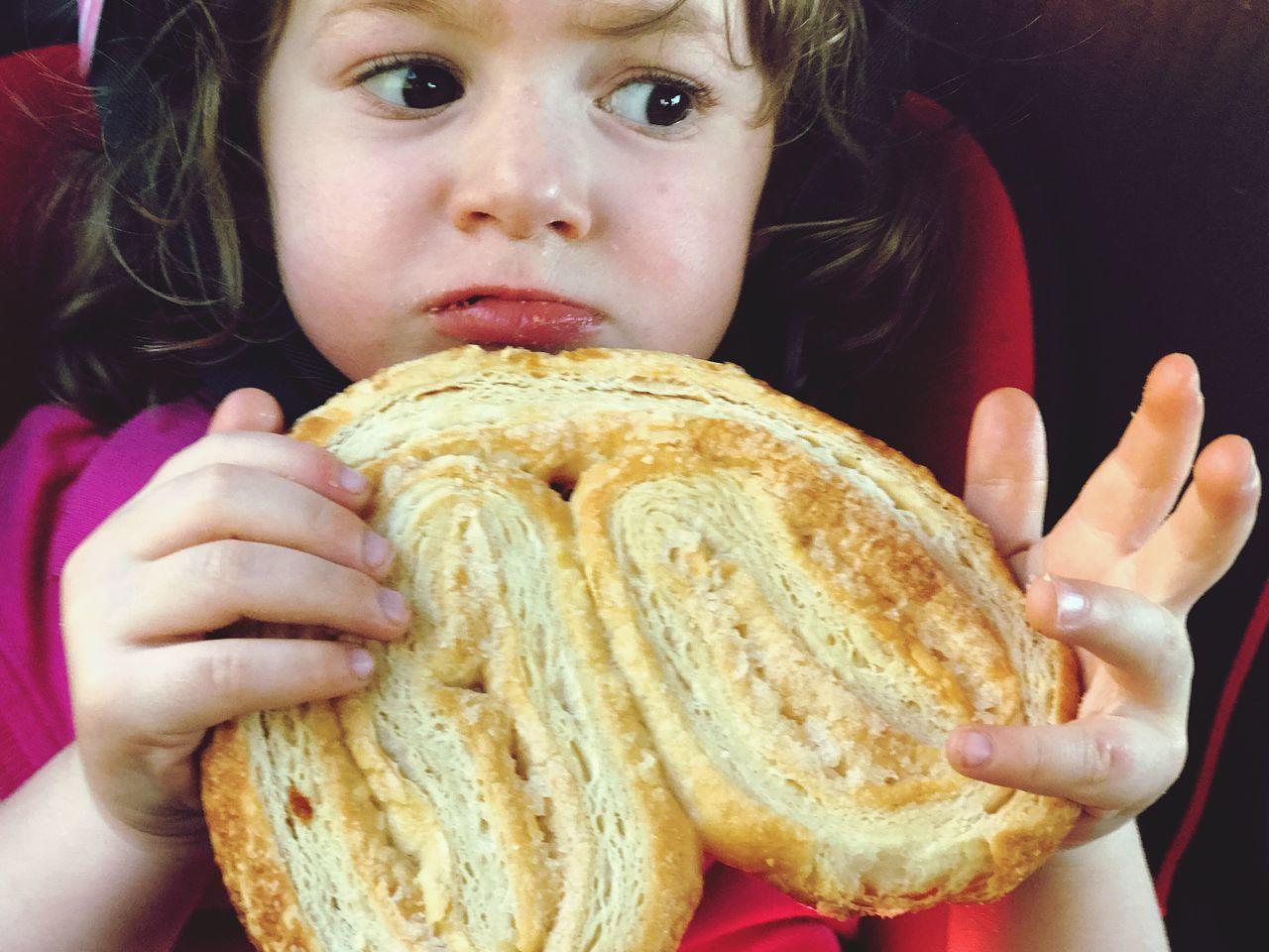 Toddler  Girl Eating Sweet Food