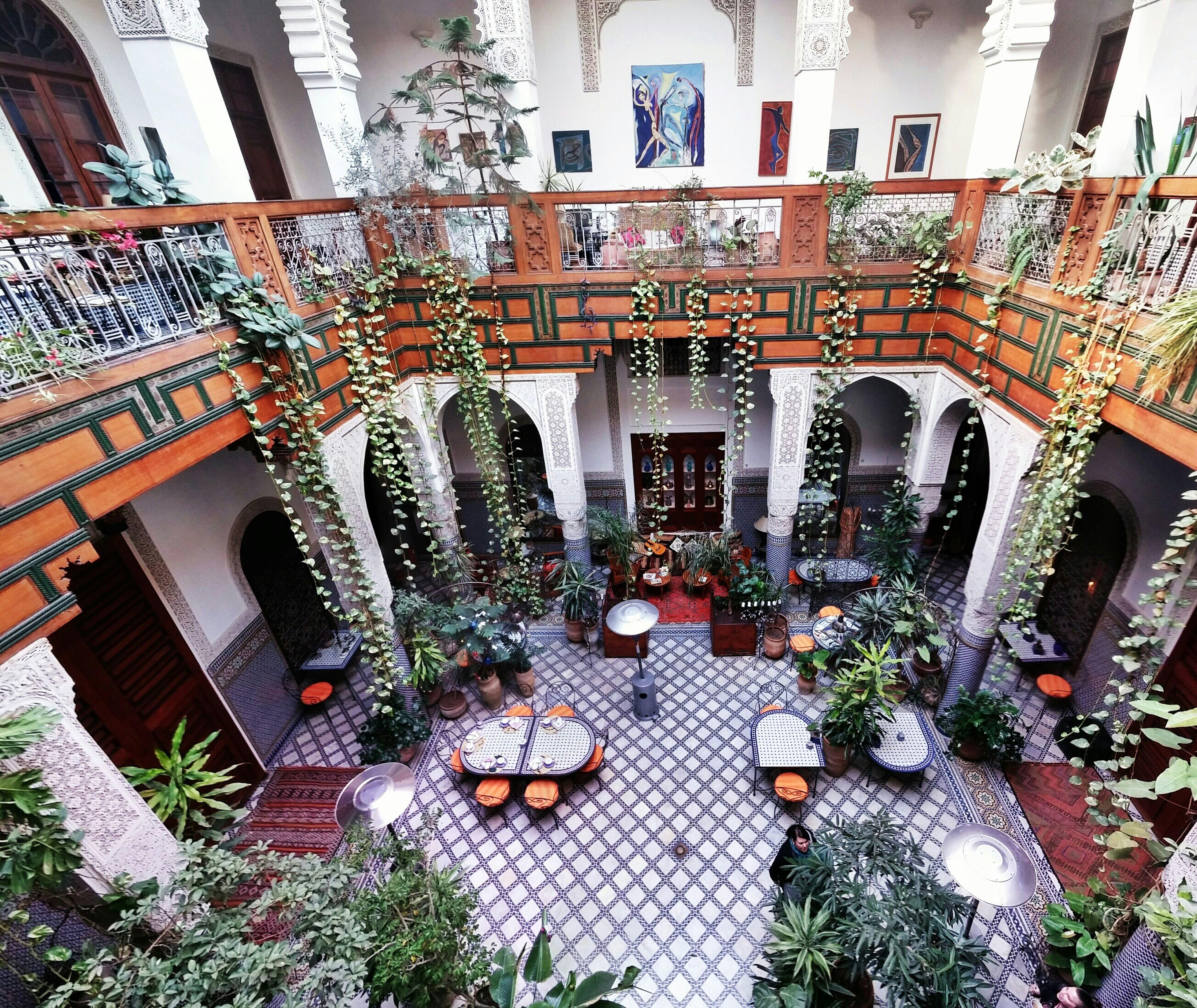 Riad Fez Morocco Courtyard