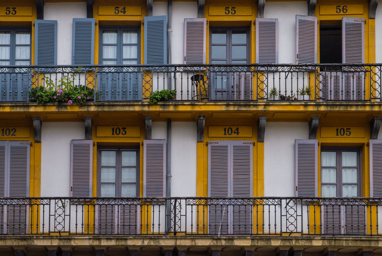 Plaza de la Constitución Architecture Balcony Building Building Exterior Doors Geometric Shape No People Windows San Sebastian