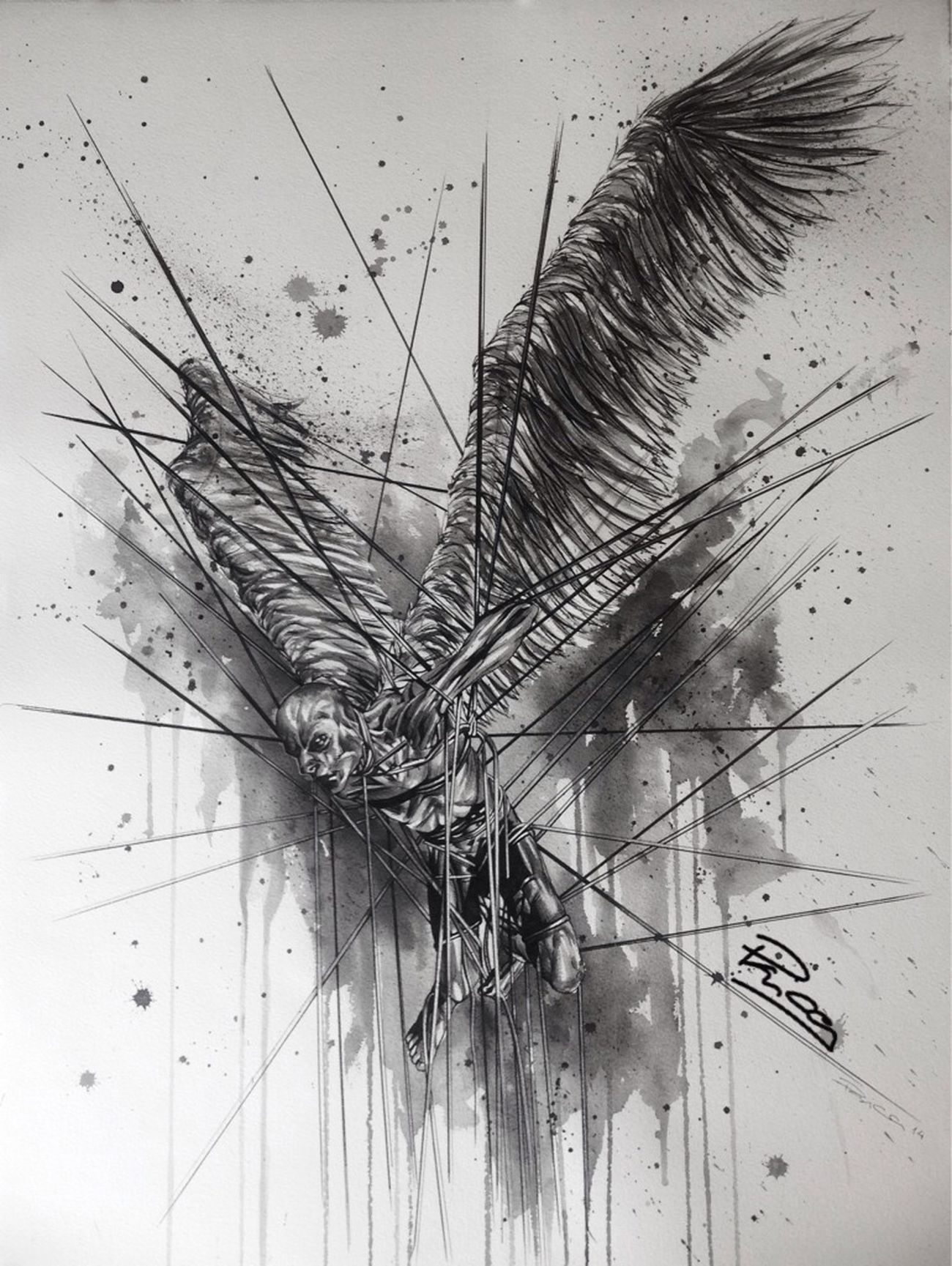 Art Artist Painting Black And White