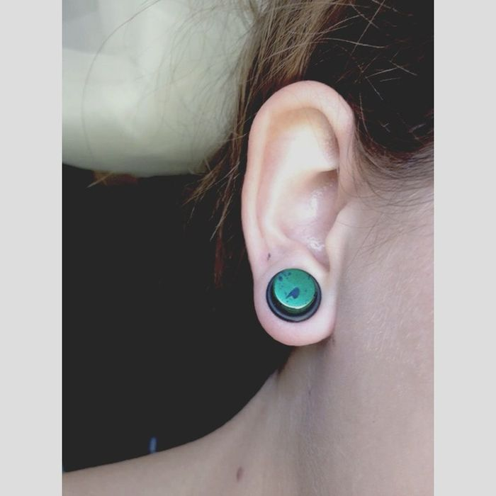 00g 🌳☕️🌕 Stretched Ears Tapers Plugs Blowout Ouch!