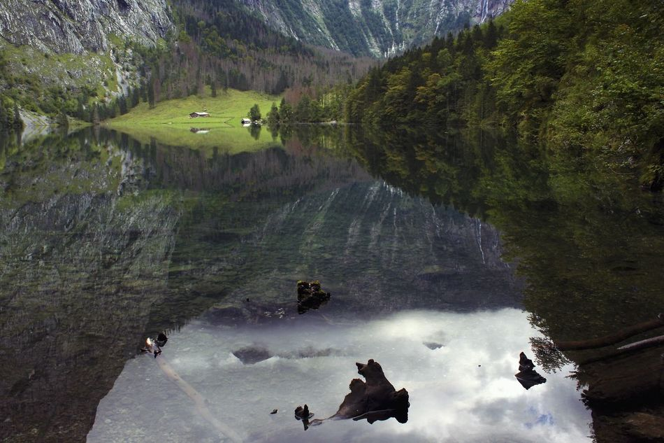 Reflection. Exploring Beautiful Nature in Berchtesgaden LakeReflection Water Reflections Traveling Landscape_Collection Wonderful_places Germany The Great Outdoors - 2015 EyeEm Awards
