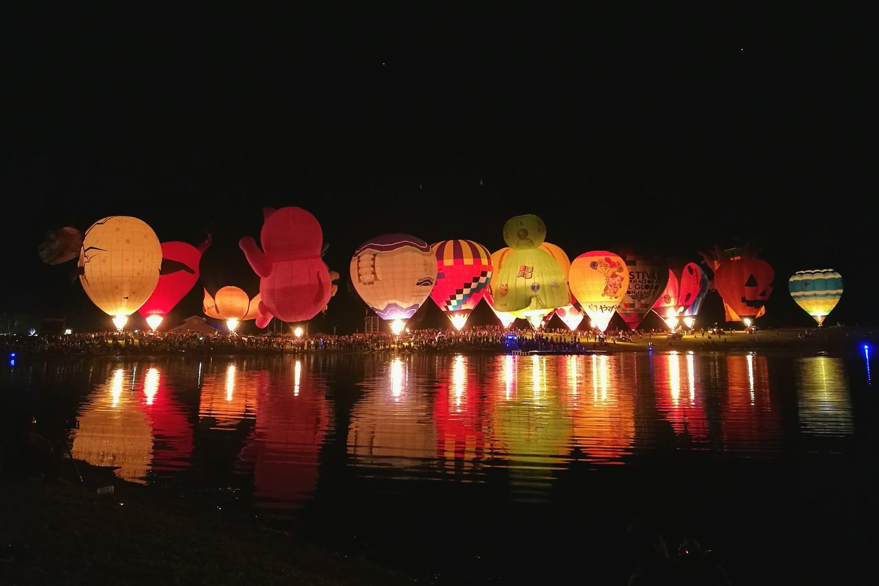 Hot Air Balloon Flame Balloon Night Balloonsfestival Singhaparkchiangrai Singhapark Thailand Chiangrai Internationalballoonfiesta Huaweiphotography HuaweiP9plus P9plus P9PlusPhotography EyeEmNewHere