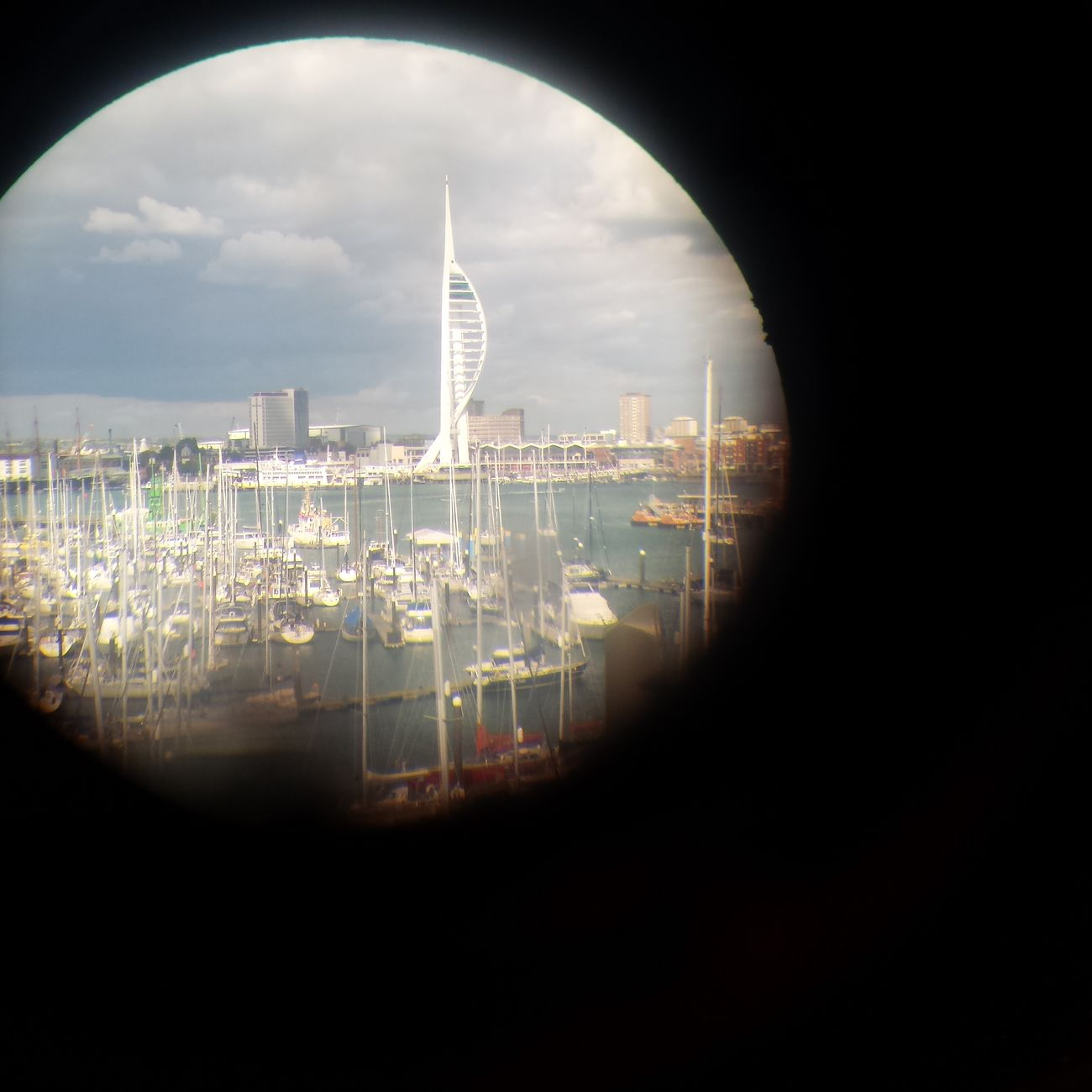 Looking Through A Periscope Built Structure City Architecture Tower Portsmouth Harbour Millenium Tower Spinnaker Tower Gosport Submarine Hms Alliance EyeEm Best Shots EyeEm Gallery