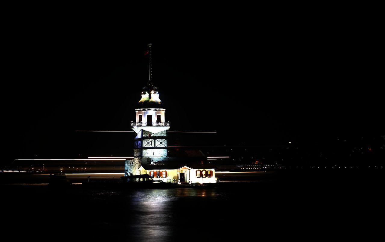 Akşam Bosphorus Boğaz Deniz Denizli Gece Istanbul Kiz Kulesi Landscape Landscape_Collection Maiden Tower Maiden Tower Istanbul Maidentower Manzara Night Sea Turkey Türkiye ıstanbul