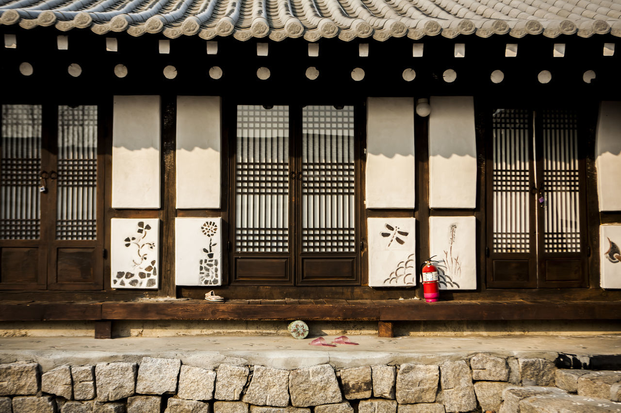 Architecture Arrangement Building Building Exterior Built Structure Closed Culture Design Door Doors Flooring Full Frame Geometry Glass Glass - Material Indoors  Korean Culture Order Ornate Pattern Roof Tile Traditional House Wall Wall - Building Feature Window