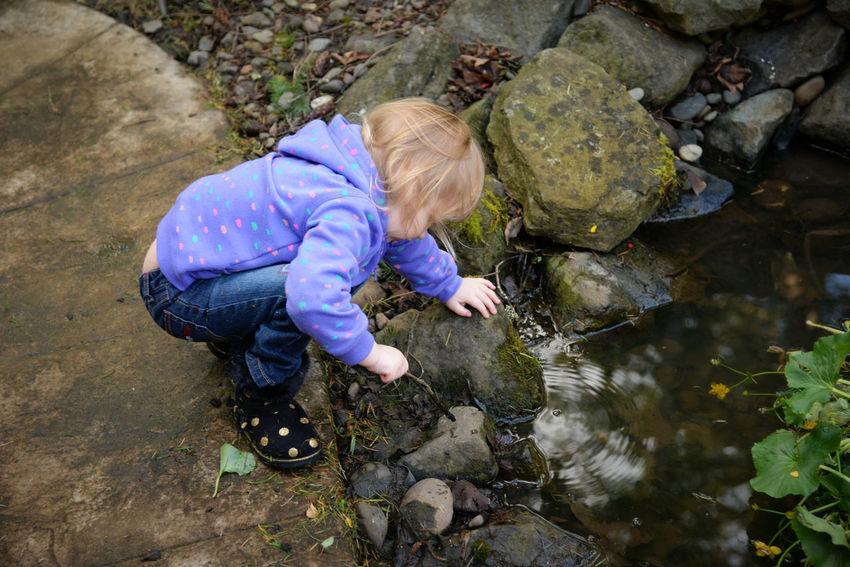 Backyard Child Child Photography Childhood Ember Garden Nature Nikon Outdoors Pond Water