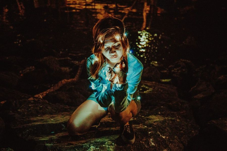 Ig: Nikocezar Full Length Young Adult Real People Night One Person Young Women Outdoors Happiness Posing Portrait Tree People Lowlight EyeEmNewHere EyeEm Best Shots Eyeem Philippines EyeEmBestPics Women EyeEm Masterclass The Portraitist - 2017 EyeEm Awards