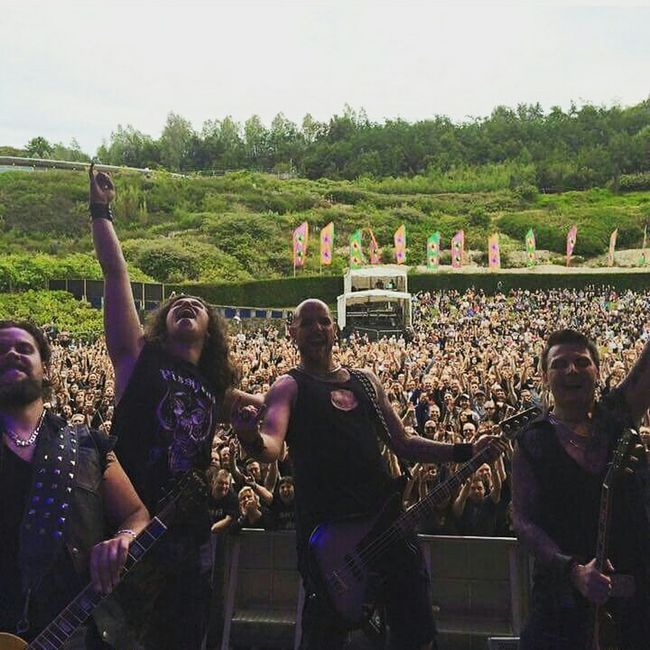 King creature opening the show for Motorhead 2015 Kingcreature Motorhead ForLife The Eden Project Edensessions MarshallAmps Edenbass Nataldrums Rock