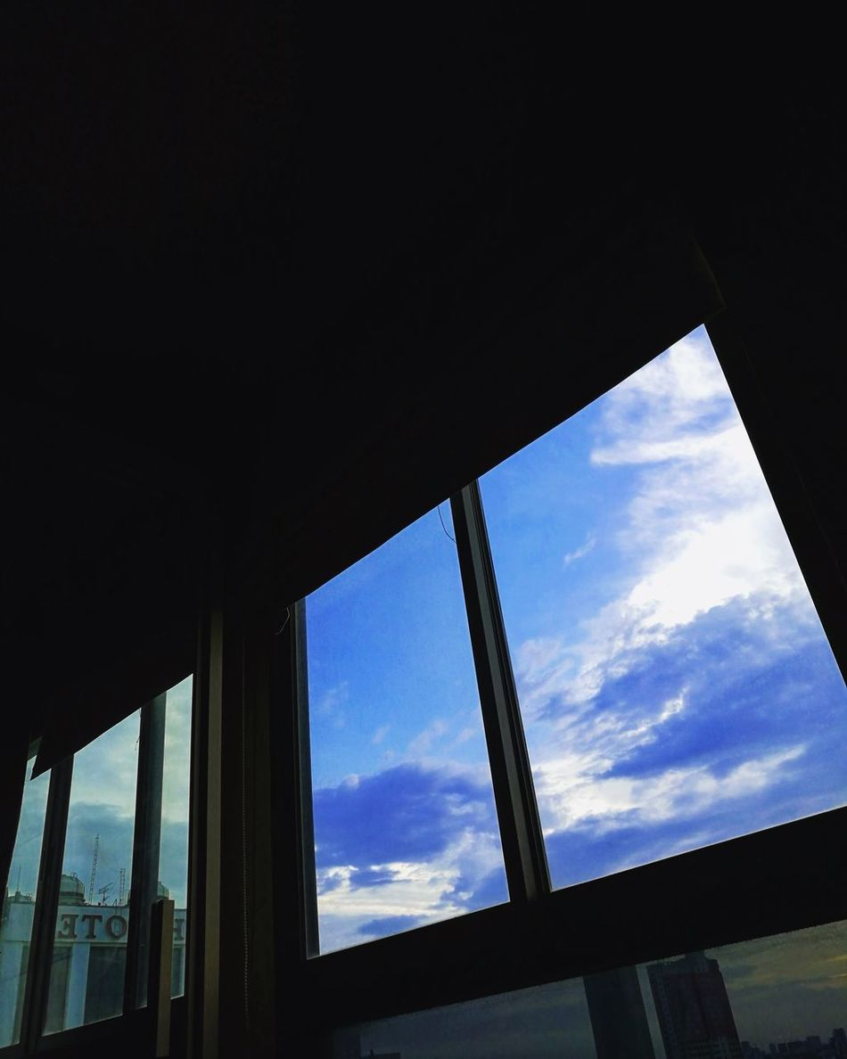 Window Sky Cloud - Sky Low Angle View Built Structure Indoors  No People Architecture Day