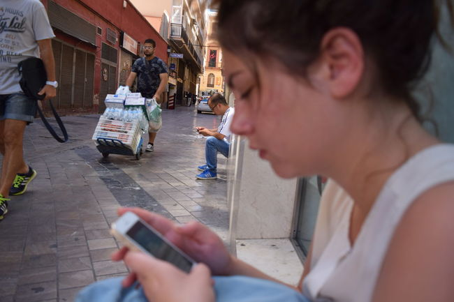 The Mix Up Social Networking Social Network Art Live Love Shop People In Motion Street Photography Street Art Andaluzia SPAIN Malaga People Together Internet Addiction