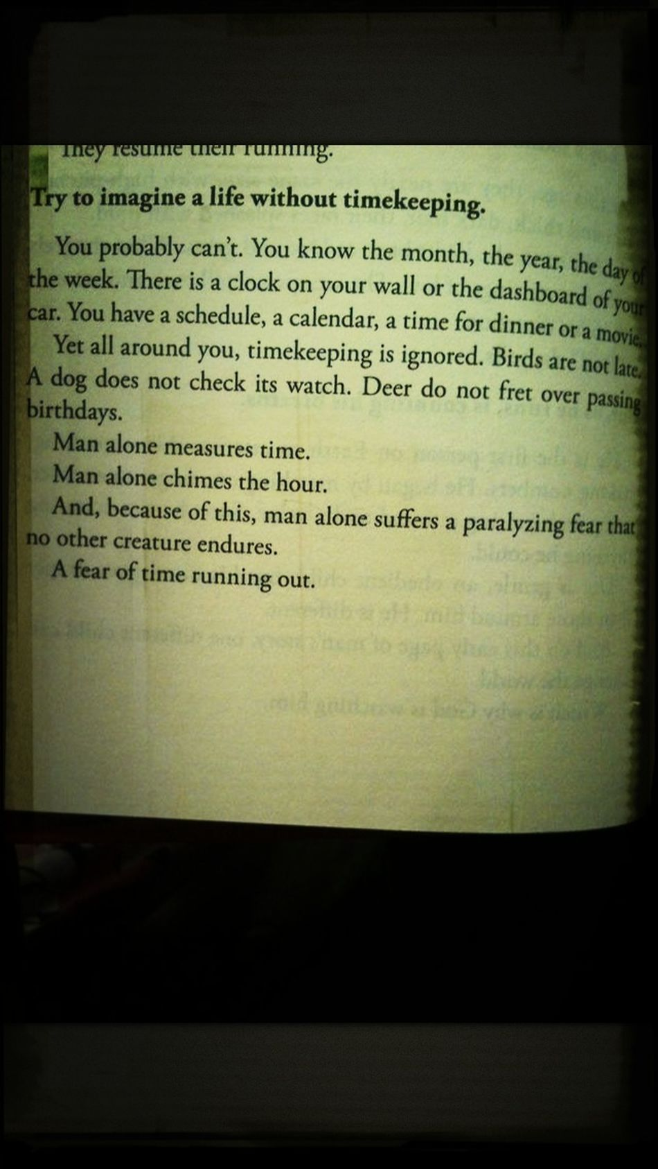 #man #time #runningout
