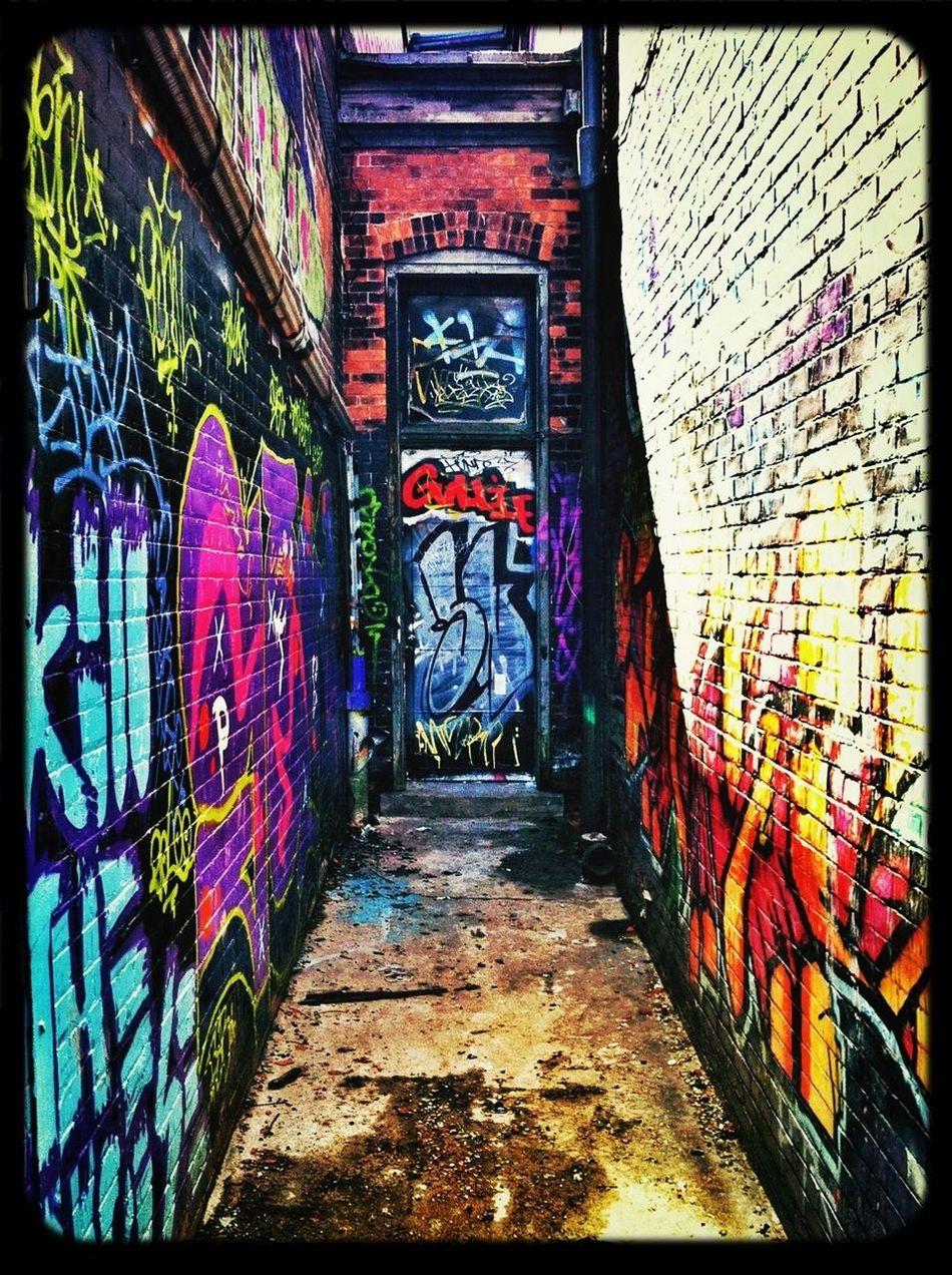 Graffiti Taking Photos Backstreets & Alleyways Streetshot
