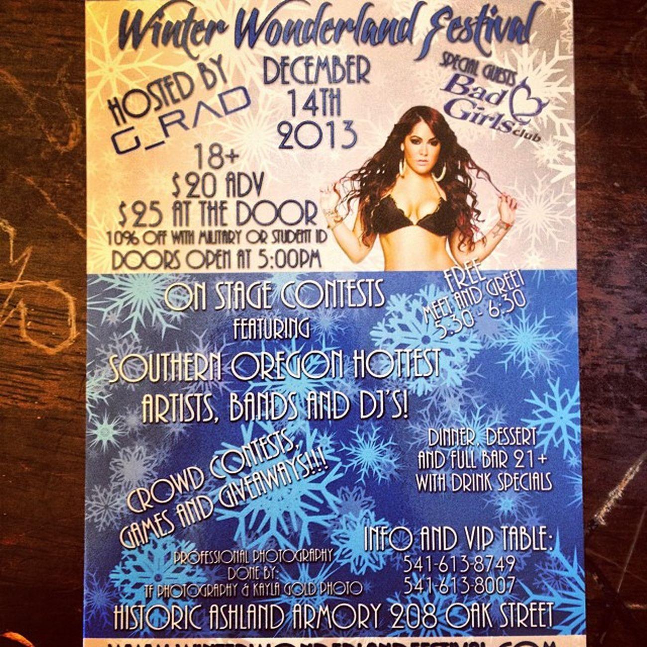 BadGirlsClub Winterwonderland Musicfestival Ashlandarmory december markyourcalenders tfphotos86 tfphotography86 photography ashland oregon 2013