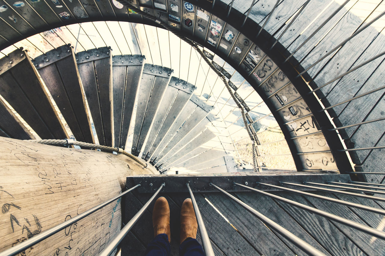 EyeEm Best Edits Eyeemphoto From Above  Lifestyles One Person Personal Perspective Shoes Shoeselfie Spiral Staircase Staircase Stairs The City Light