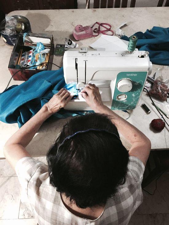Needlework Hands Grandma Work Sewing Machine Women Around The World
